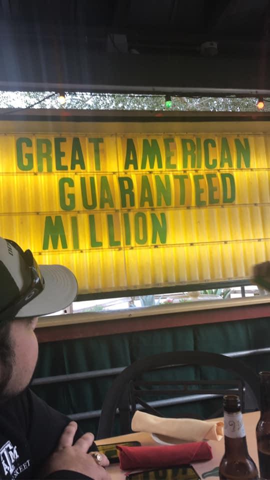 Great American Guaranteed Million Kickoff