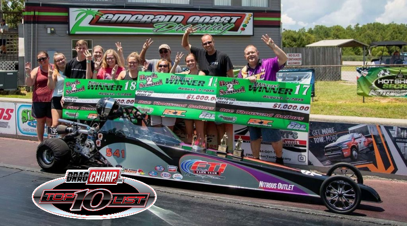 DragChamp 2019 Jr. Dragster Top 10 List