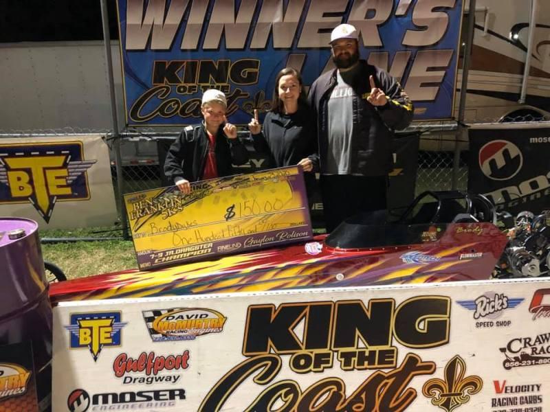 Brody Dykes 7-9 jr dragster winner ben franklin