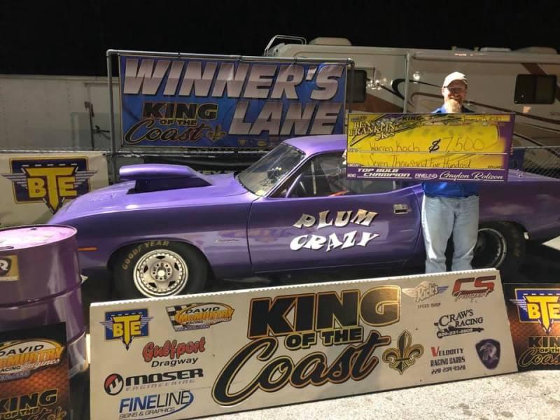Warren Koch Top Bulb winner