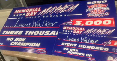 Memorial Day Mayhem Race Results