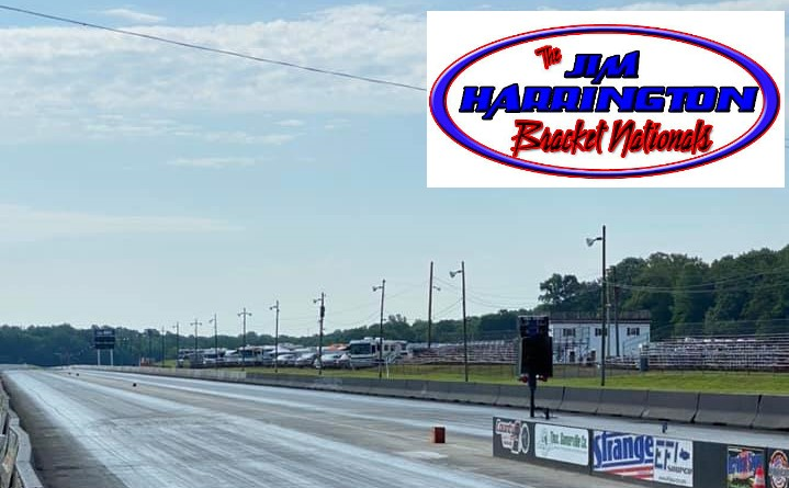 cecil county dragway track photo with jim harrington bracket nationals logo