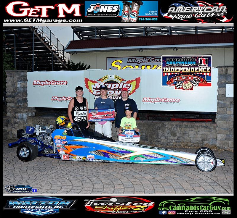 junior dragster independence showdown shootout winner Justin Handwerk