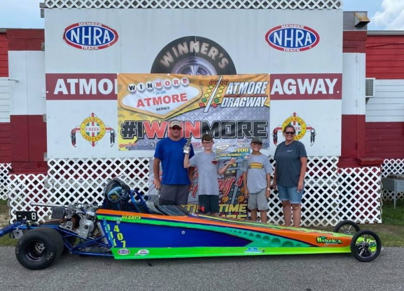 winmore with atmore 10-12 junior dragster runner up zach pearce