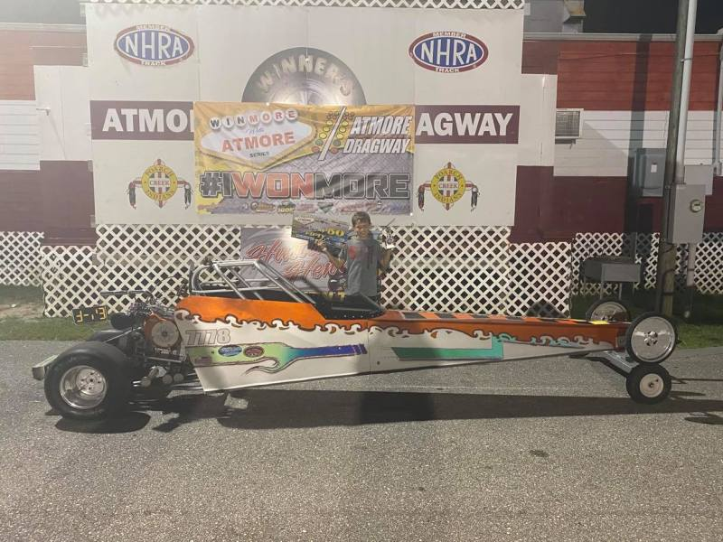 winmore with atmore 6-9 junior dragster runner up kolton barns
