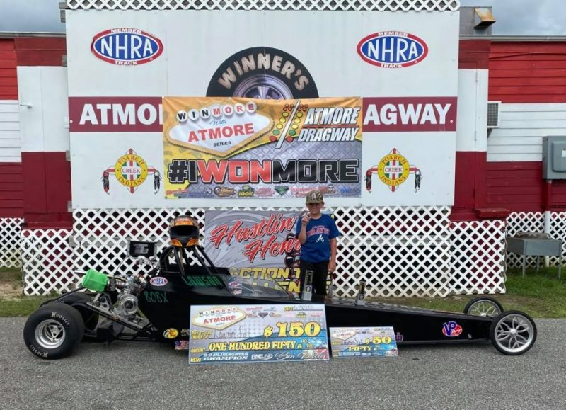 winmore with atmore 6-9 junior dragster winner lawson scott