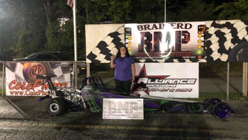 Shelby Whittle ssaturday brainerd junior dragster winner