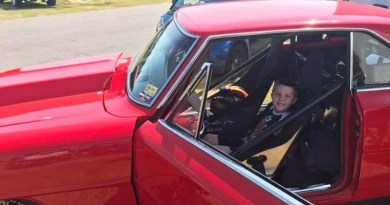 galot chevy II kid in drivers seat