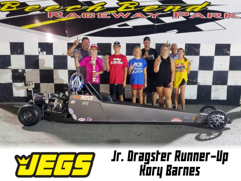 jr dragster runner up kory barnes