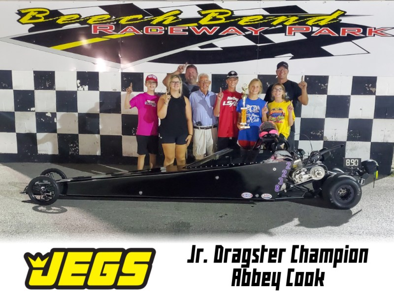 jr dragster winner abbey cook