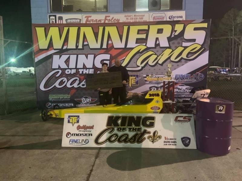 Jalen Price saturday junior dragster 10-12 winner