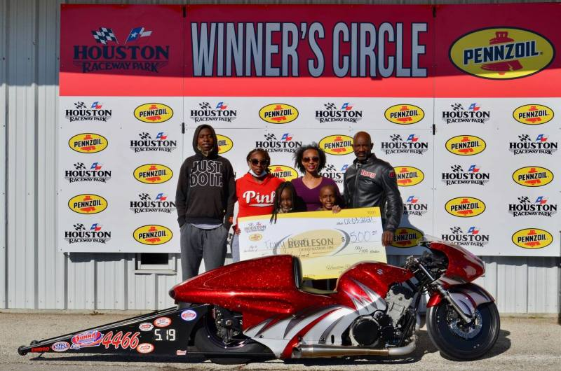 Tony Davis saturday motorcycle winner