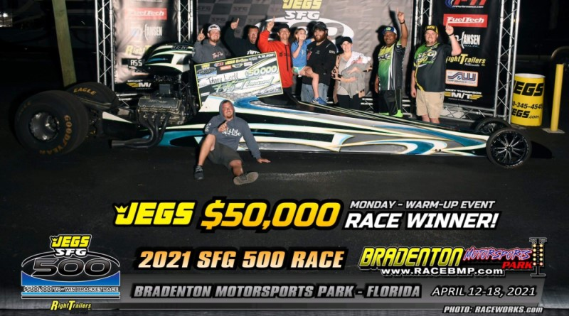 Ezell Excels During $50K Warm-Up Race at JEGS SFG 500