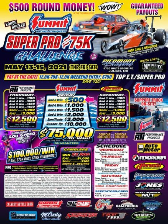 loose rocker summit super pro $75K challenge flyer