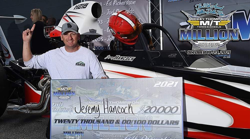 Jeremy Hancock Wins Tuesday's Race to the Million $20,000 Warm Up Race