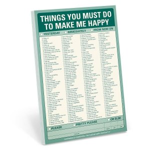 A Checklist to help your honey know what makes you happy
