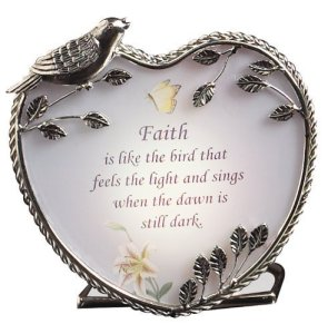 Faith is Like the Bird Who Feels the Light Candle Holder