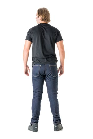 Draggin Jeans UK Skinny fitting motorcycle jeans skinny fit anti abrasion jeans Draggin Men's Twista Skinny fitting motorcycle jeans skinny fit anti abrasion jeans MR7+ back blue