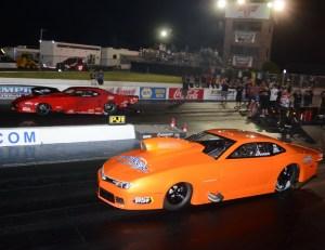 Jason Harris (far lane) and Pat Stoken