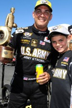 Tony Schumacher with son Mike