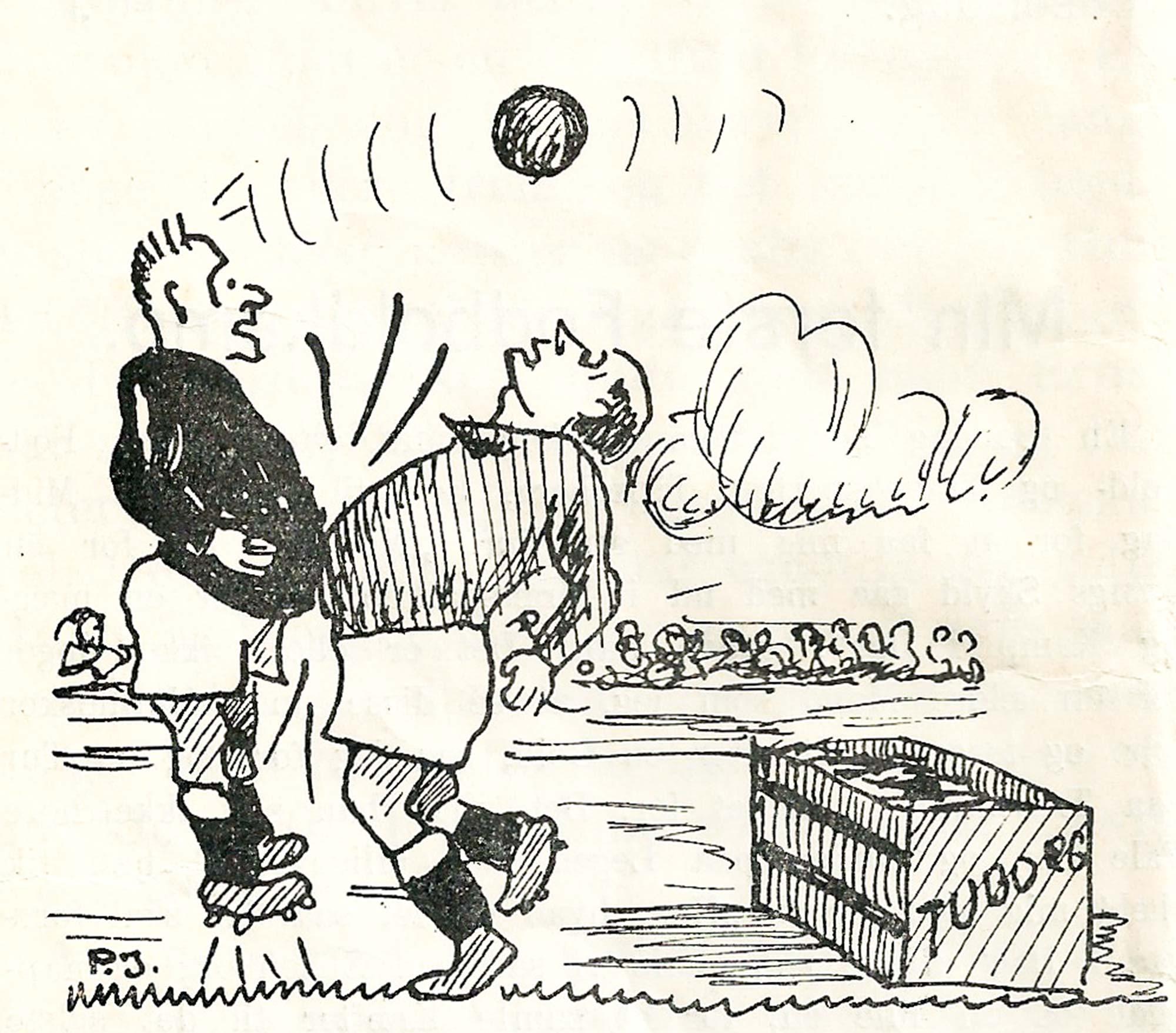 Ugens fodboldhistorie stammer fra et af Dragør Boldklubs klubblade fra 1933.