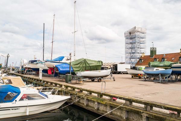 Lodstårnet på Dragør Havn er i øjeblikket under renovering. Arkivfoto: TorbenStender.