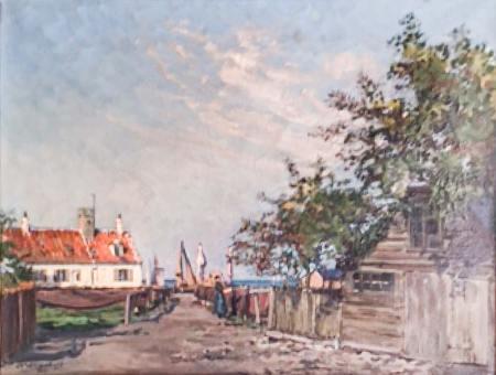 Havnepladsen fra før Dragør Baadeværfts tilbygning fra begyndelsen af 1960'erne.