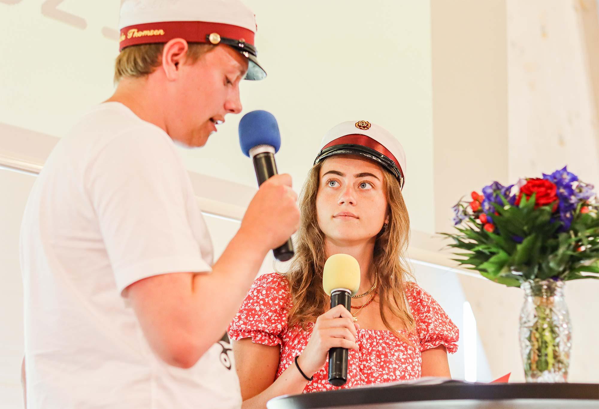 To af modtagerne af TG's Venners legat, Sigurd Janniche og Maja Ohrt.