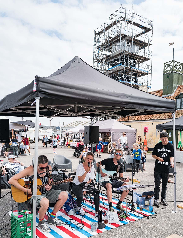 Hele weekenden igennem var der underholdning – både fra livebands og dj's. Foto: TorbenStender.
