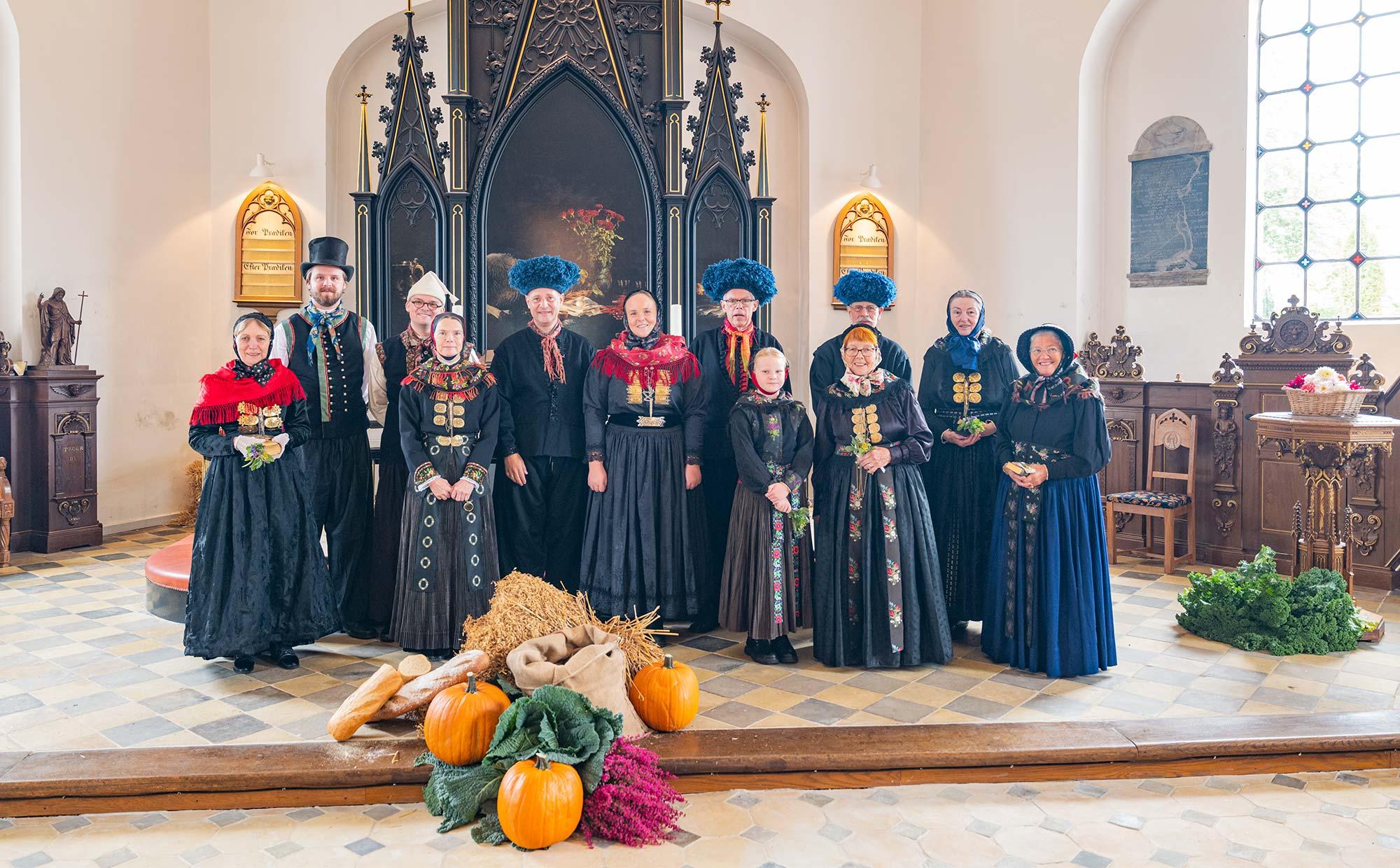 Fra sidste års høstgudstjeneste i St. Magleby Kirke. Arkivfoto: TorbenStender.