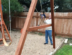 Pawpaw pushes DJ on the swing