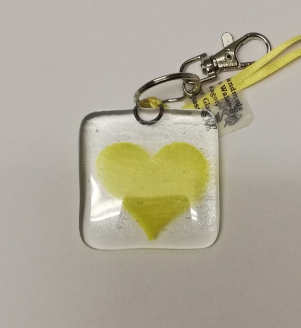 Yellow heart keyring