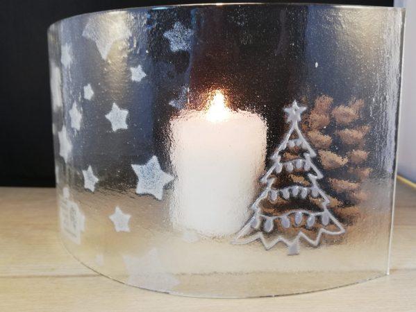 Lightcatcher candle screen Christmas themed