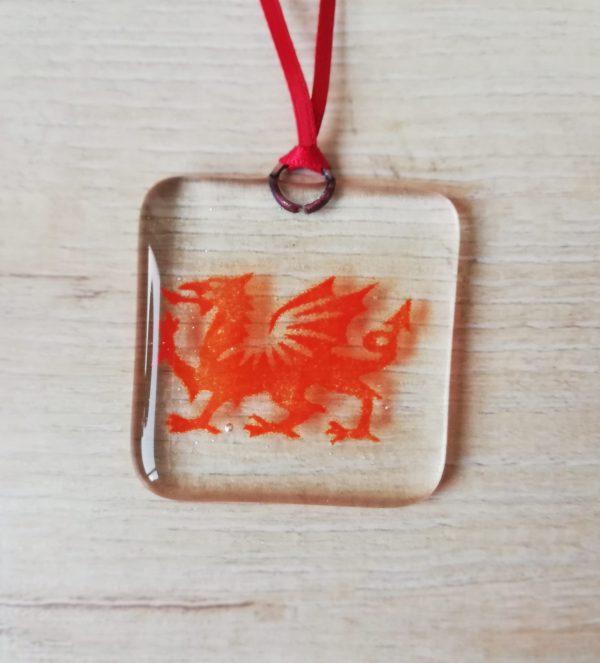 Welsh Dragon suncatcher