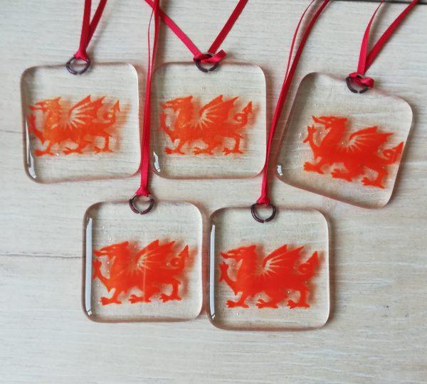 Multiple Dragon suncatchers
