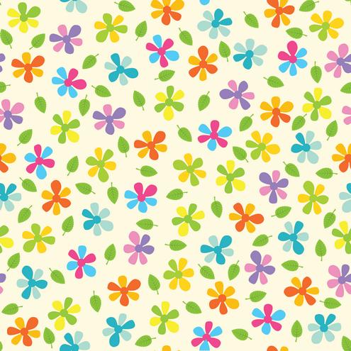 _Vector - Summer Flower Seamless Pattern Preview by DragonArt