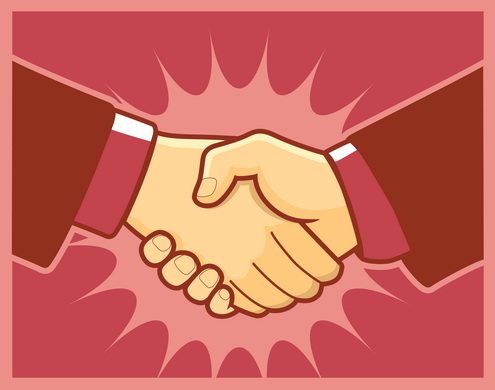Vector - Handshake Prev1 by DragonArt