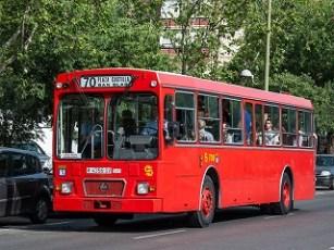 Imagen del autobús 6038. Madrid con niños, dragones y unicornios