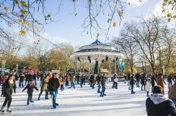 La feria contará con dos pistas de hielo, una dedicada a los niños.