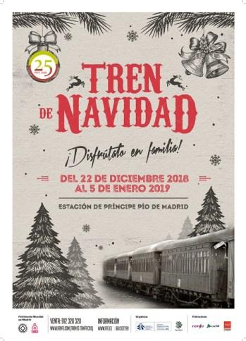 Cartel Tren de Navidad 2018