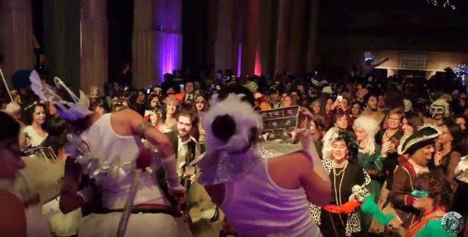 Baile de Disfraces en el Círculo de Bellas Artes.