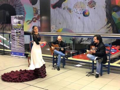 Imagen de uno de los conciertos en el Metro de Madrid.