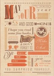 Neil Gaiman New Years Toast poster