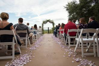Our ceremony site out on the terrace overlooking Texas hill country.