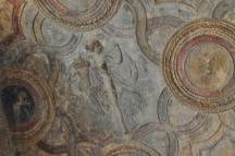 Preserved ceiling artwork in Pompeii.