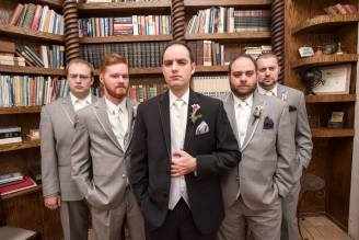 Groom's side posing for a new Wes Anderson film.