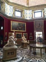 The Leonard (Da Vinci) room in the Uffizi gallery.