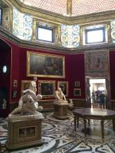 The Leonard (Da Vinci) room in the Uffizi gallery.