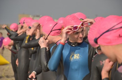 Tri Race Start Pink caps