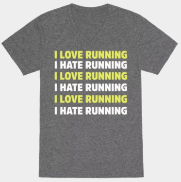 Love Hate Running Tshirt
